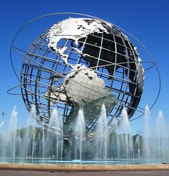 The Unisphere in Queens, the most ethnically diverse urban area in the world.[7][8]