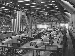 Vega Aircraft plant in Burbank, 1942