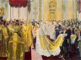 The wedding of Tsar Nicholas II of Russia.