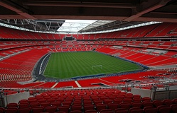 Wembley Stadium, home of the England football team, has a 90,000 capacity. It is the UK's biggest stadium.