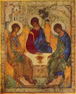 Andrei Rublev's Trinity.