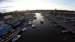Over Annapolis Harbor & Dock Street