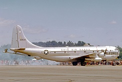 A Boeing KC-97L Stratofreighter of the 160th Air Refueling Wing, 1974