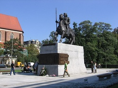 Equestrian statue of Bolesław I in the city of Wrocław, Lower Silesia