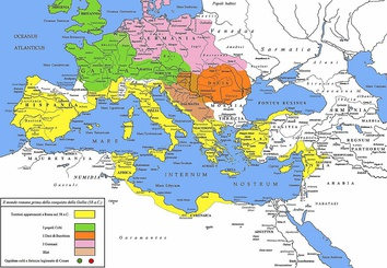 The Roman republic and its neighbours in 58 BC