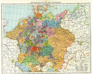 Political situation in Germany about 1560
