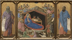 The Nativity with the Prophets Isaiah and Ezekiel, 1308–1311, National Gallery of Art