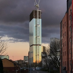 Exchange Court - the tallest building in Salford, currently under construction.