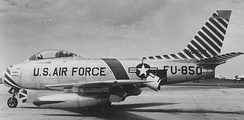 North American F-86F-25-NH Sabre Serial 52-4850 from the 366th Fighter-Bomber Wing.