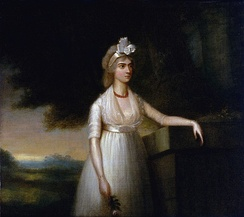 "Lady Nelson, Nelson's wife, formerly Frances ""Fanny"" Nisbet of the island of Nevis, West Indies. A painting of the British school; circa 1800, formerly attributed to Richard Cosway, from an earlier copy"