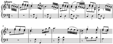 First theme of Haydn's Sonata in G Major, Hob. XVI: G1, I, mm. 1–12 (Benward and Saker 2009, 136)