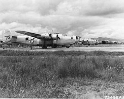 Newly arrived Fourteenth Air Force B-24 Liberators on the line at Kunming Airport, China on 6 September 1944.