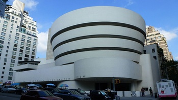 The Solomon R. Guggenheim Museum at Fifth Avenue and 89th Street