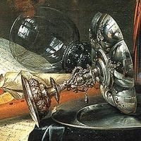 Jan Davidsz. de Heem, detail of silverware from A Richly Laid Table with Parrots, c. 1650