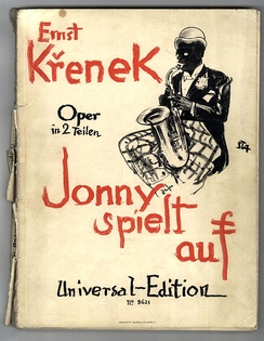 Jonny spielt auf, the title page of the 1926 vocal score (1st edition)