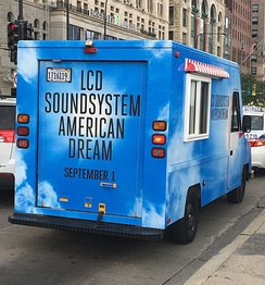 One of many ice cream trucks designed to promote American Dream outside the 2017 Lollapalooza festival in Chicago.