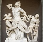 Laocoön and his Sons, Greek, (Late Hellenistic), c. 160 BC and 20 BC, White marble, Vatican Museum