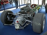 The Cosworth DFV engine as installed into an early-1968 spec Lotus 49