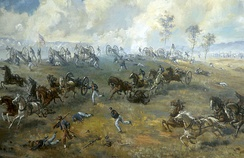 Capture of Ricketts' Battery, painting by Sidney E. King, National Park Service