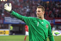 Neuer playing for Germany in 2011
