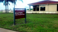 MacDill Air Force Base Michael Moffitt Visitor Reception Facility. Dedicated in 2002 to Lt Col Michael Moffitt, USAF (Ret)