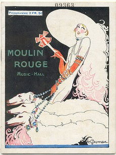 Moulin Rouge poster by Charles Gesmar (1925)