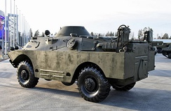 A BRDM-2 armored vehicle