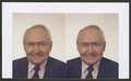 Two color photographs of L. Tom Perry from around 2000.