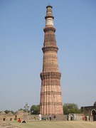 Qutub Minar built at the start of the Delhi Sultanate, a massive statement of conquest.