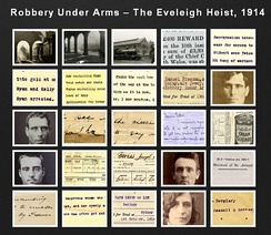 """The Eveleigh Payroll Heist"", 1914 was committed in the middle of the day in a busy area and has been reported to be the first robbery in Australia where a getaway car was used."