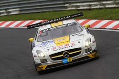 The Rowe Racing Mercedes SLS AMG GT3 at the 41. ADAC Zurich 24h Rennen
