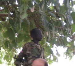 A child soldier of the Sudanese People's Liberation Army (2007).