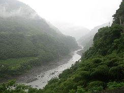 The Sanguang River in northwestern Taiwan