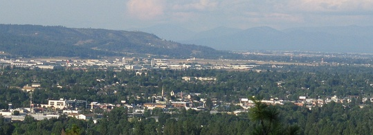Spokane Valley, a suburb in the Spokane metropolitan area, and Washington's ninth largest city (since 2015)