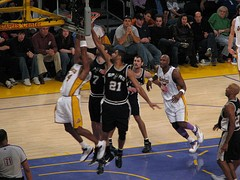 Playoff game between the San Antonio Spurs and the Los Angeles Lakers in 2007