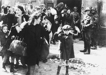 Photo from Jürgen Stroop's report to Heinrich Himmler from May 1943 on liquidation of the Warsaw Ghetto.