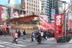 TKTS booth at north end of Times Square
