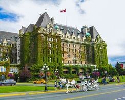 The Empress is a hotel located on Government Street, facing Victoria Harbour.