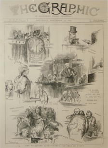 Front page of The Graphic during the Tichborne case in 1873
