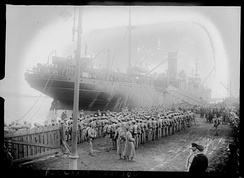 Portuguese troops disembarking at Brest.