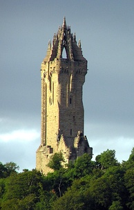 The Wallace Monument commemorates William Wallace, the 13th-century Scottish hero.