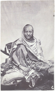 Purported photograph of Zinat Mahal Begum, his consort