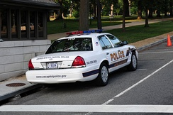 Capitol Police Crown Victoria Police Interceptor with a Street Appearance Package on Constitution Avenue