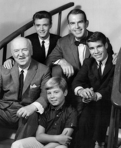 The ABC cast of My Three Sons, with William Frawley, circa 1962
