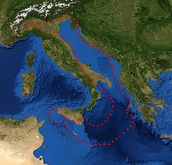 Adriatic Microplate boundaries