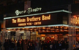 The Allman Brothers Band opening night in 2009 celebrating their 40th anniversary at the Beacon