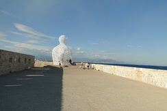 Le Nomade, by Jaume Plensa, Bastion St-Jaume, Antibes