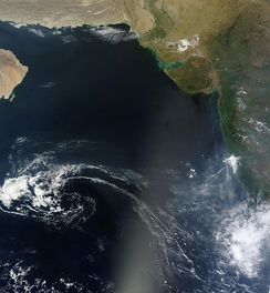 Arabian Sea from space