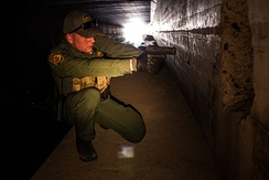 Patrolling a tunnel in Nogales, Arizona.