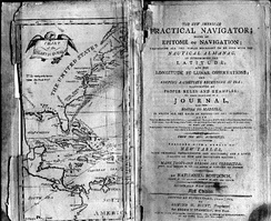 Frontispiece of  the 1802 first edition of Bowditch's The New American Practical Navigator.